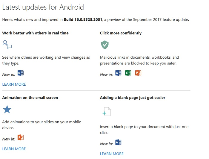 office android build 26.0.8528.2001