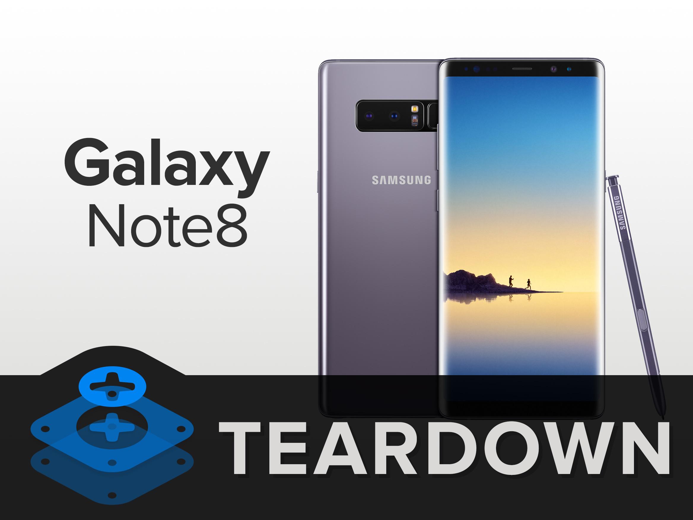 Galaxy Note 8 fue desarmado completamente