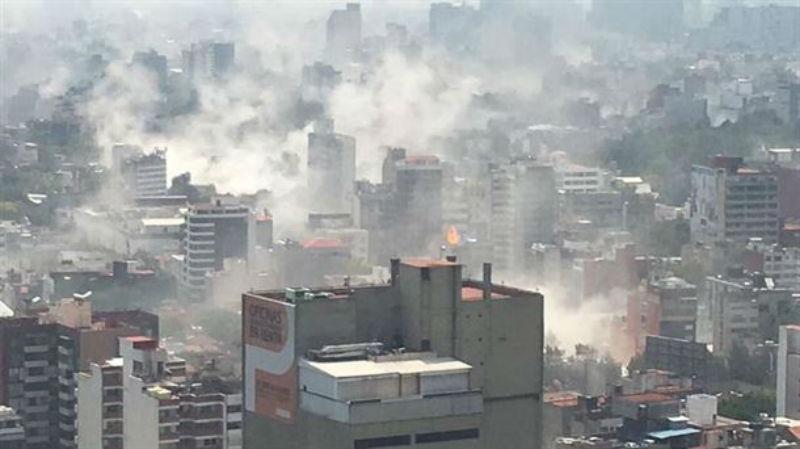 Así estaba la Ciudad de México al momento del sismo