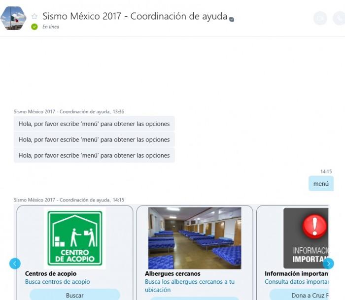sismo mexico 2017 bot skype