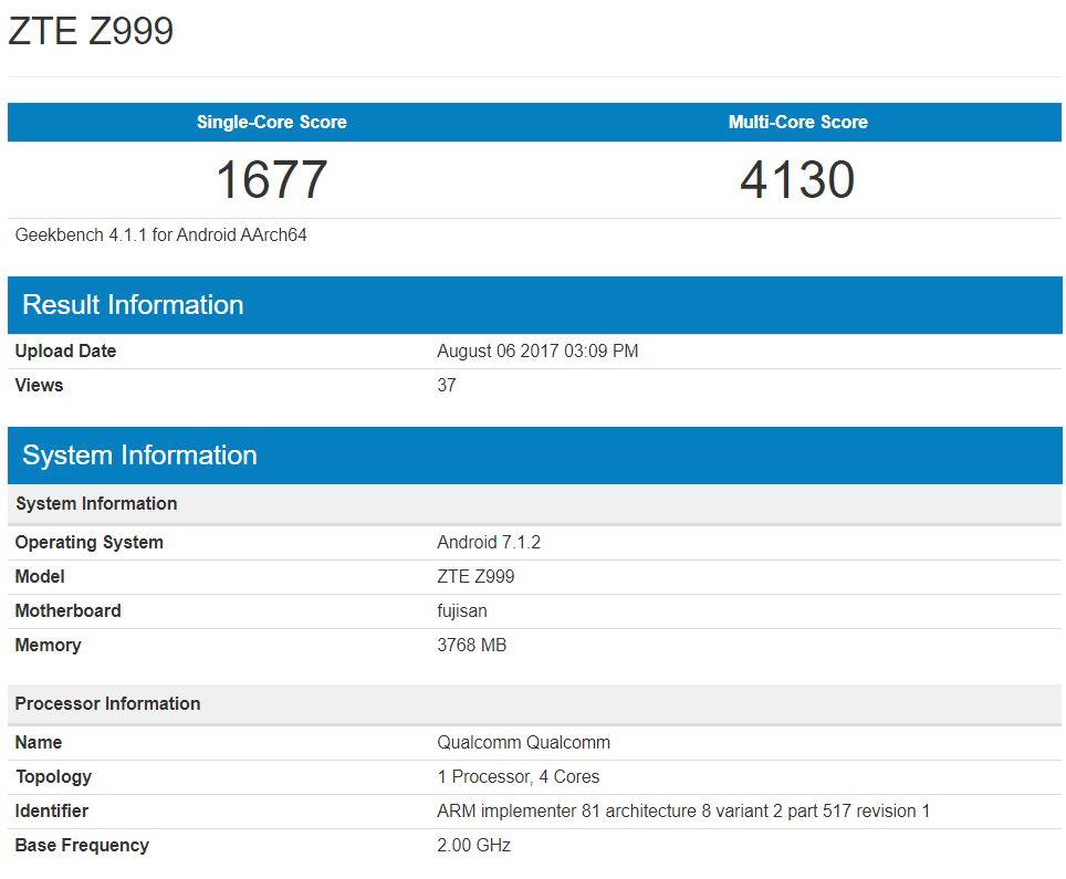 Axon-M-ZTE-Z999-Geekbench