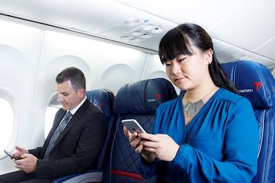 Delta Mensajería móvil en vuelo