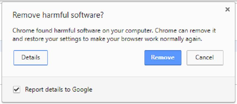 google chrome software malicioso detectado