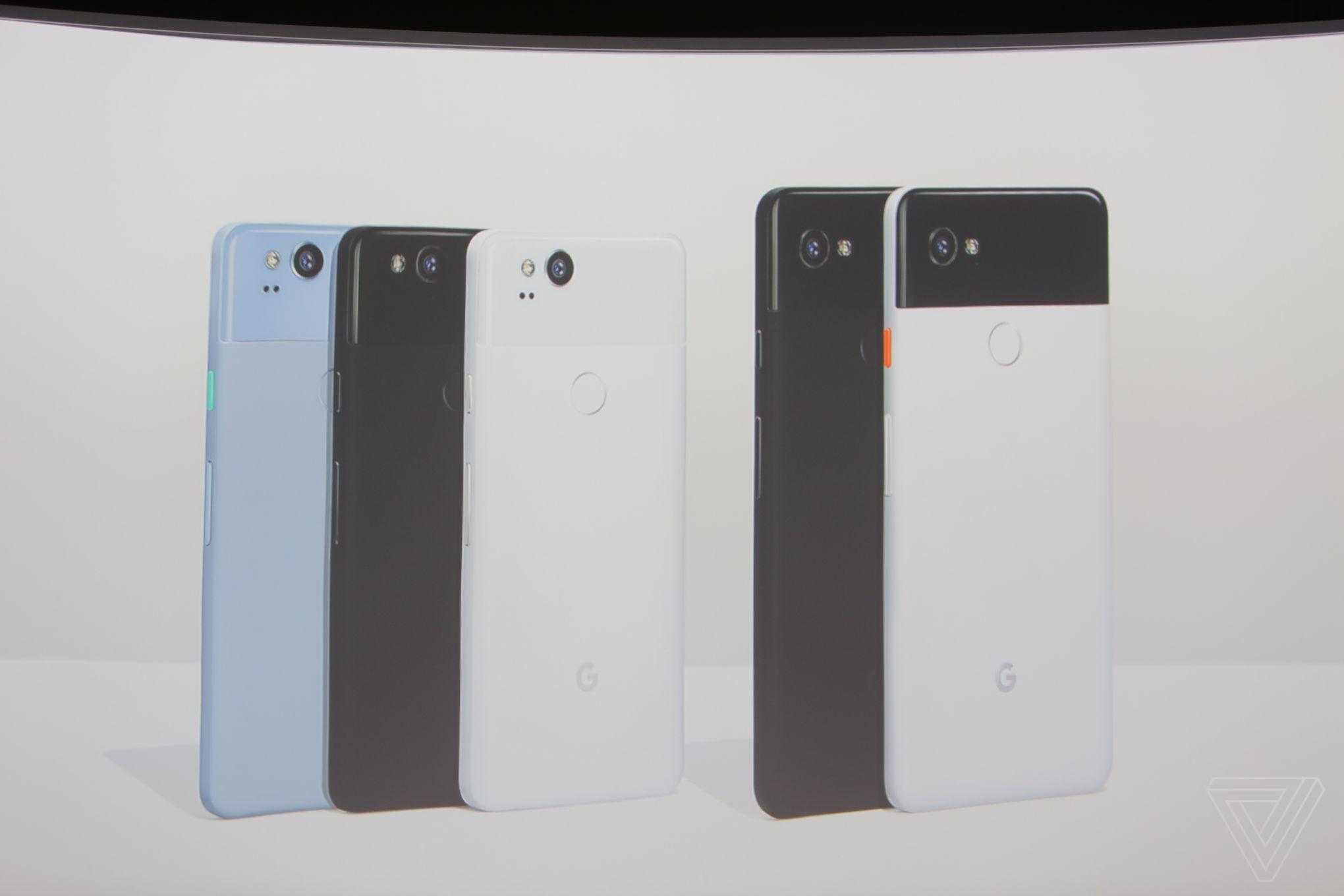 google-pixel-2-pixel2 xl colores