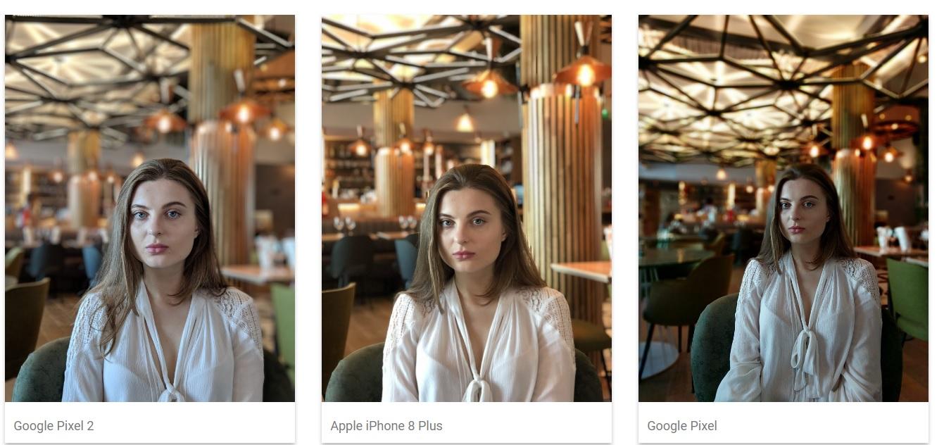 google pixel 2 vs iphone 8 plus fotografia