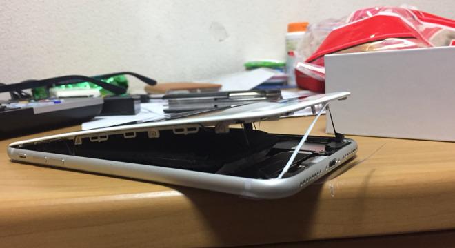 iphone 8 plus bateria hinchada