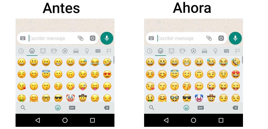 nuevos emojis whatsapp android