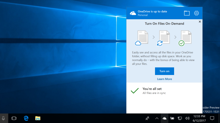 onedrive file ondemand windows 10 fall creators uodate
