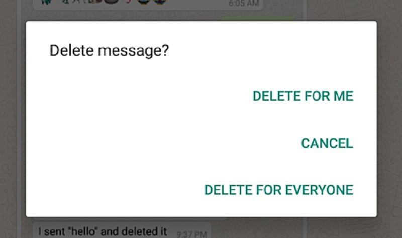 whatsapp borra mensajes