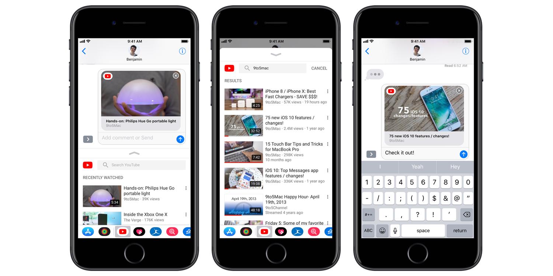 Podrás compartir fácilmente vídeos de YouTube en iMessage
