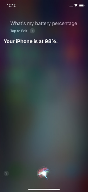 Siri-battery-percentage-iphone-x
