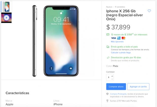 iphone x mercadolibre