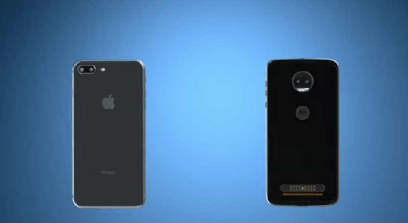 moto z2 iphone 8 +